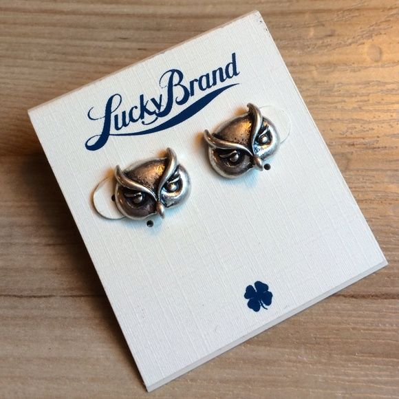 "Lucky Brand owl stud earrings Brand new never worn. Owls are about .5"" wide. Lucky Brand Jewelry Earrings"