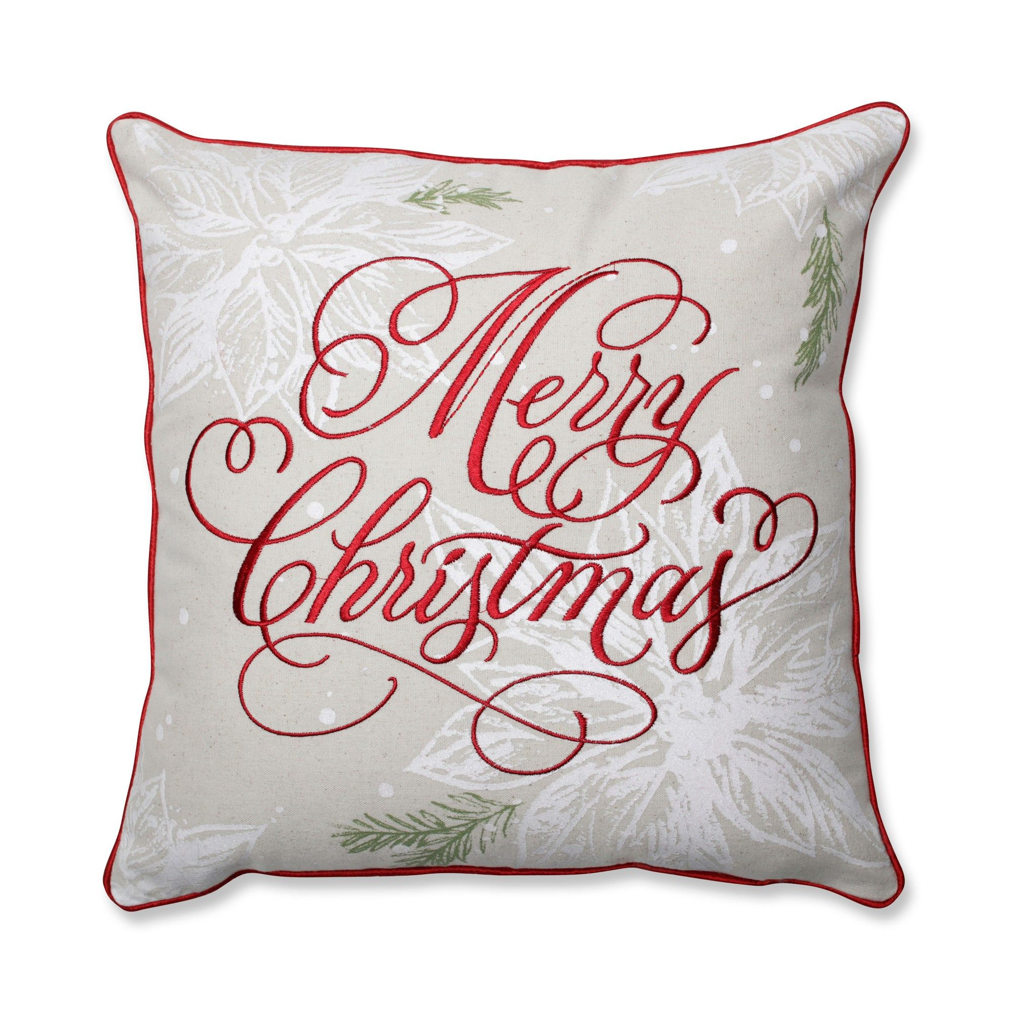 Pillow Perfect 17 X17 Merry Christmas Throw Pillow Red Products