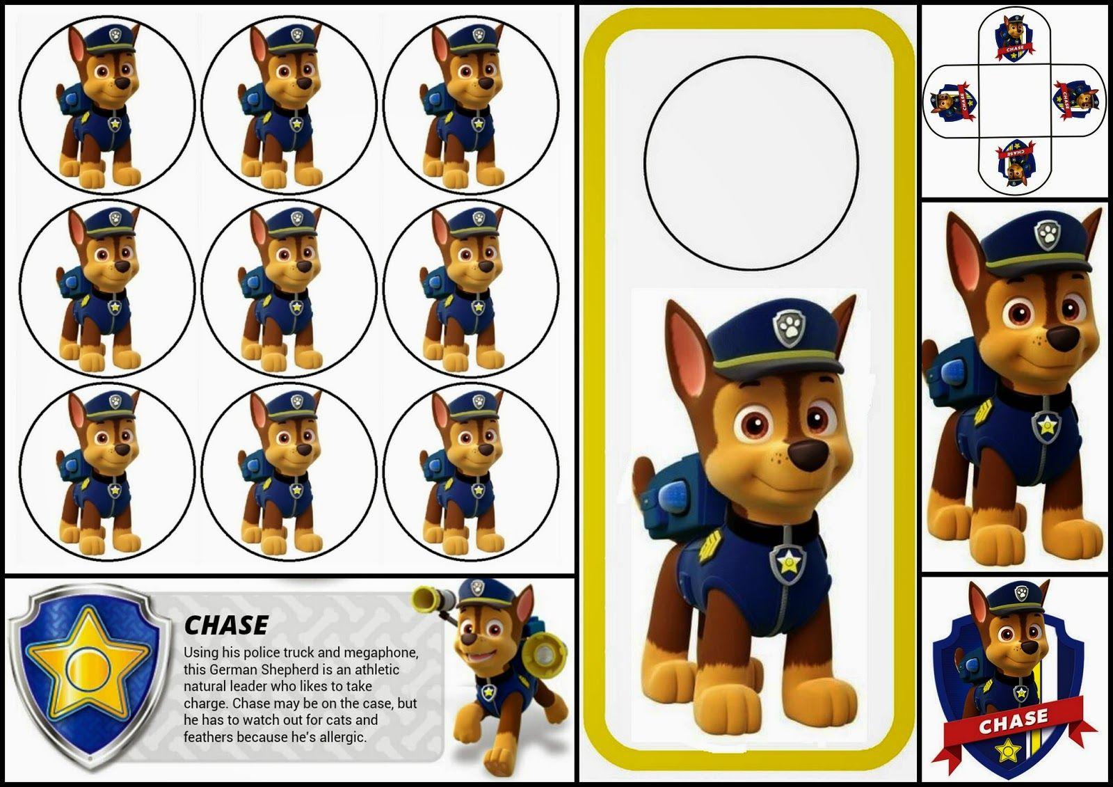 Dibujos Para Colorear Patrulla Canina Chase: Paw Patrol O Patrulla Canina: Divertido Mini Kit De Chase