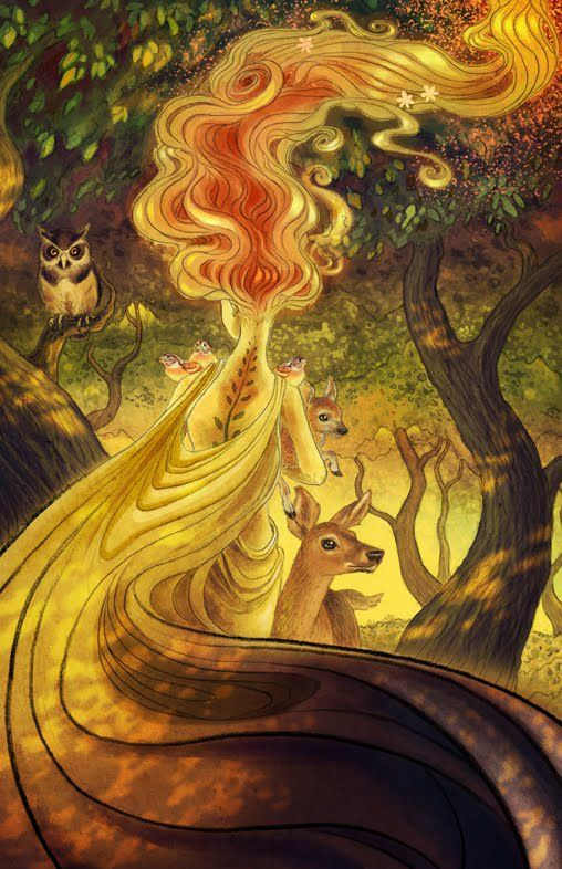 Mother Nature By Aky Mother Nature Goddess Nature Artwork Nature Goddess
