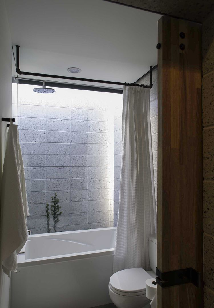 Phoenix small apartment bathroom with natural light
