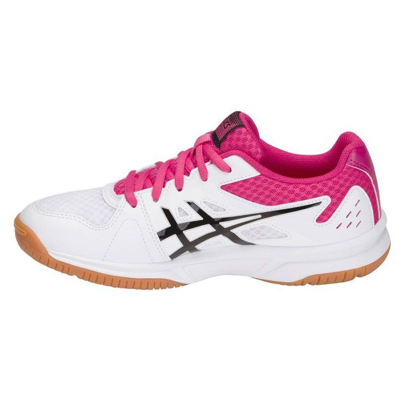 Buty Do Siatkowki Asics Upcourt 3 W 1072a012 101 Biale Wielokolorowe Volleyball Shoes Asics Volleyball Shoes Badminton Shoes