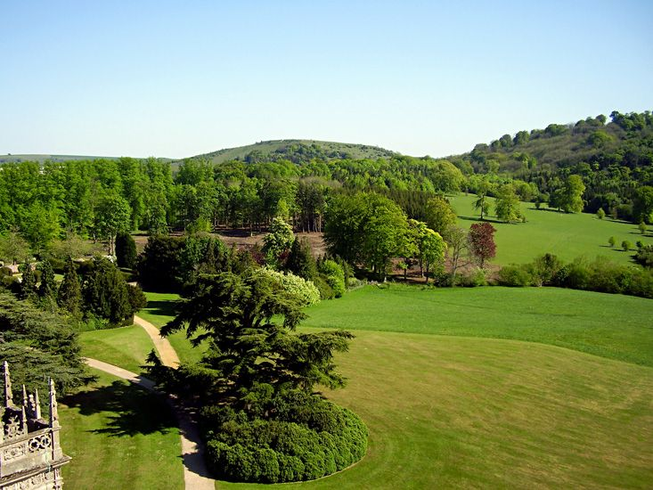 Highclere Castle Lancelot Capability Brown The Park And The Follies Highclere Castle English Landscape Garden Landscape Design