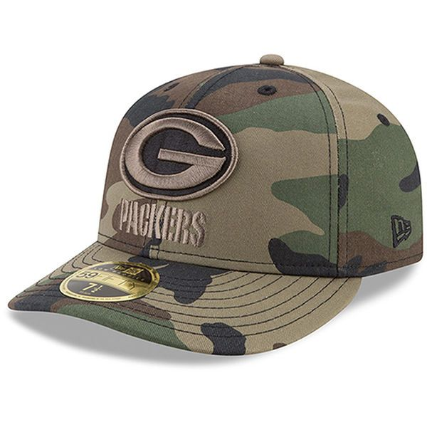 7516cdbbbf6 Men s New Era Camo Philadelphia Eagles Woodland Low Profile 59FIFTY Fitted  Hat
