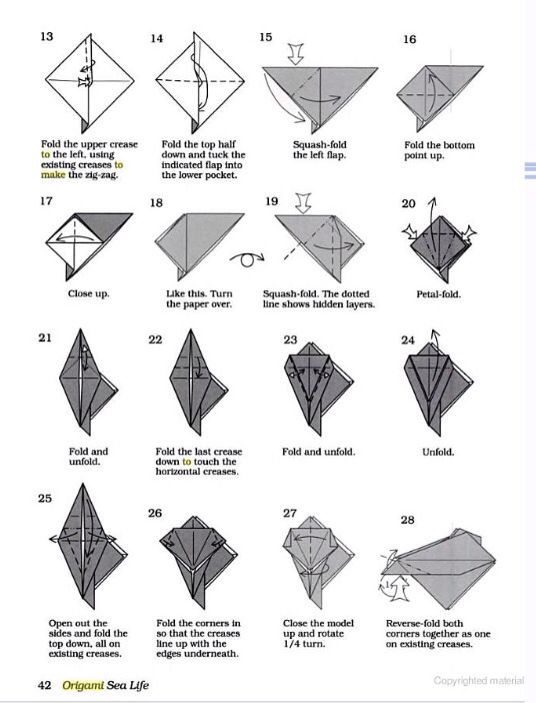 Origami Orca Instructions ~ Part 2 of 3 ~ (make sure to