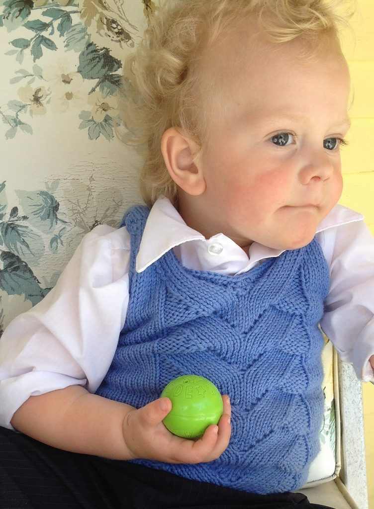 Free Knitting Pattern for Julian Vest for babies and toddlers - Raya ...