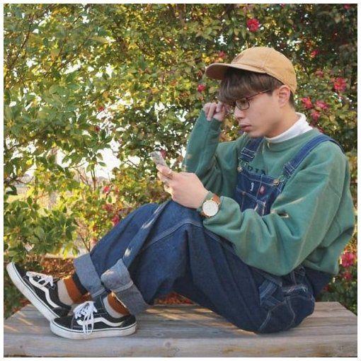 overalls aesthetic boy