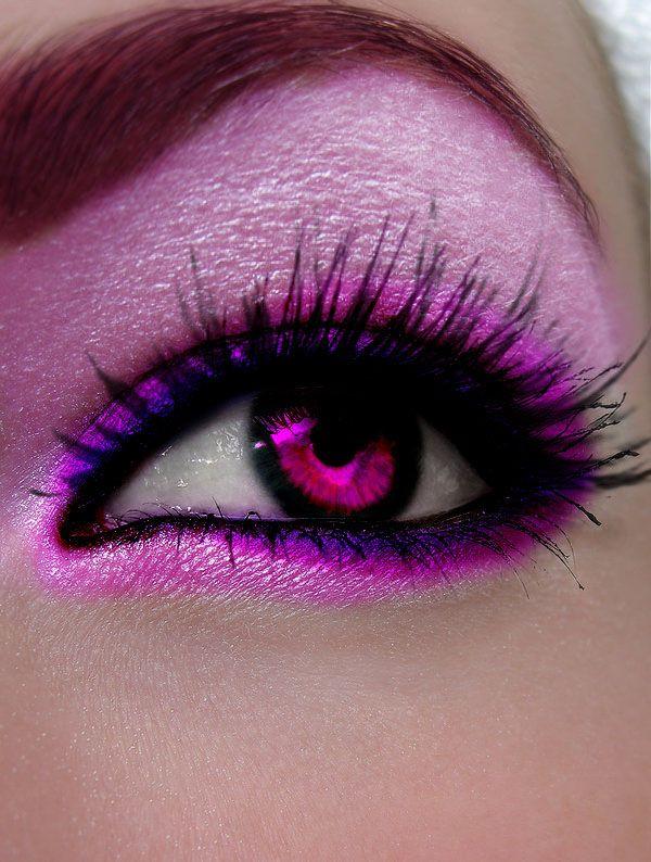 Pink And Purple Eyes Yes Omg Pretty Eye Makeup Pink Eyes