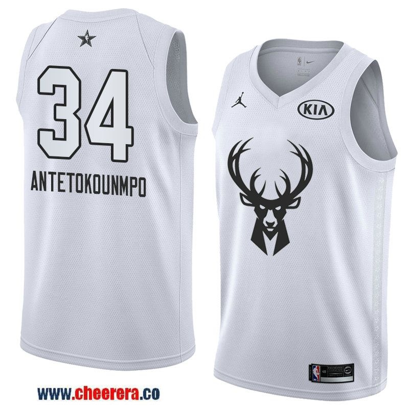 669a684fe men s western conference milwaukee bucks  34 giannis antetokounmpo white  2018 nba all-star jersey
