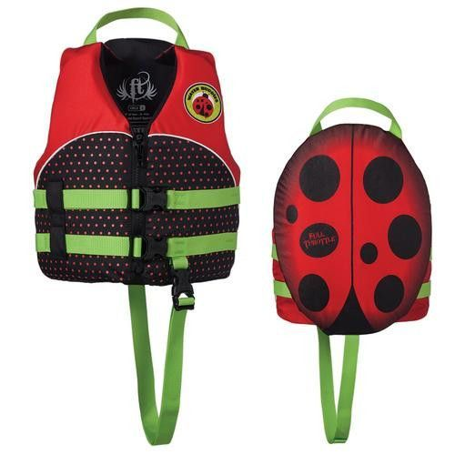 Full Throttle Water Buddies Vest - Child 30-50lbs - Ladybug