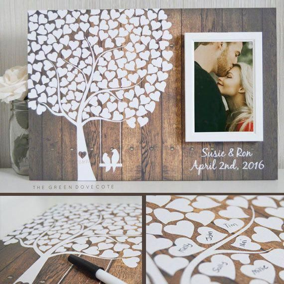 Signature Heart Tree w/ Frame Guest Book (choice of 4 frame colors and 2 sizes) | Wedding Products from MyOnlineWeddingHelp.com