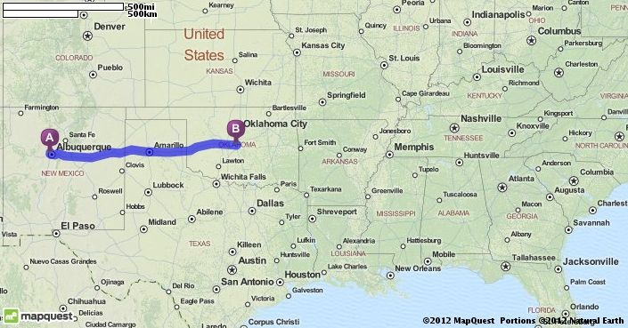 Driving Directions From Las Cruces New Mexico To Oklahoma City - Mapquest portugal