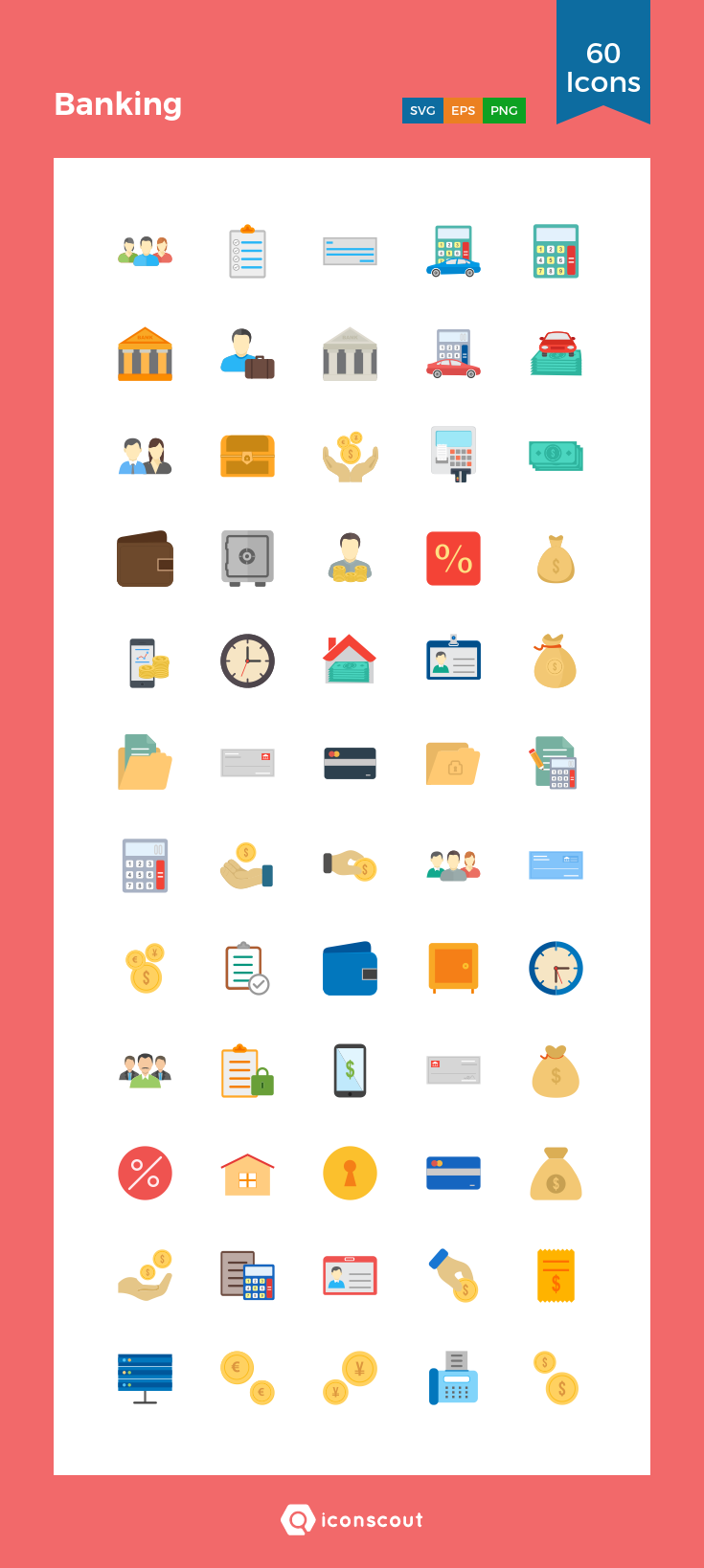 Download Banking Icon pack Available in SVG, PNG, EPS
