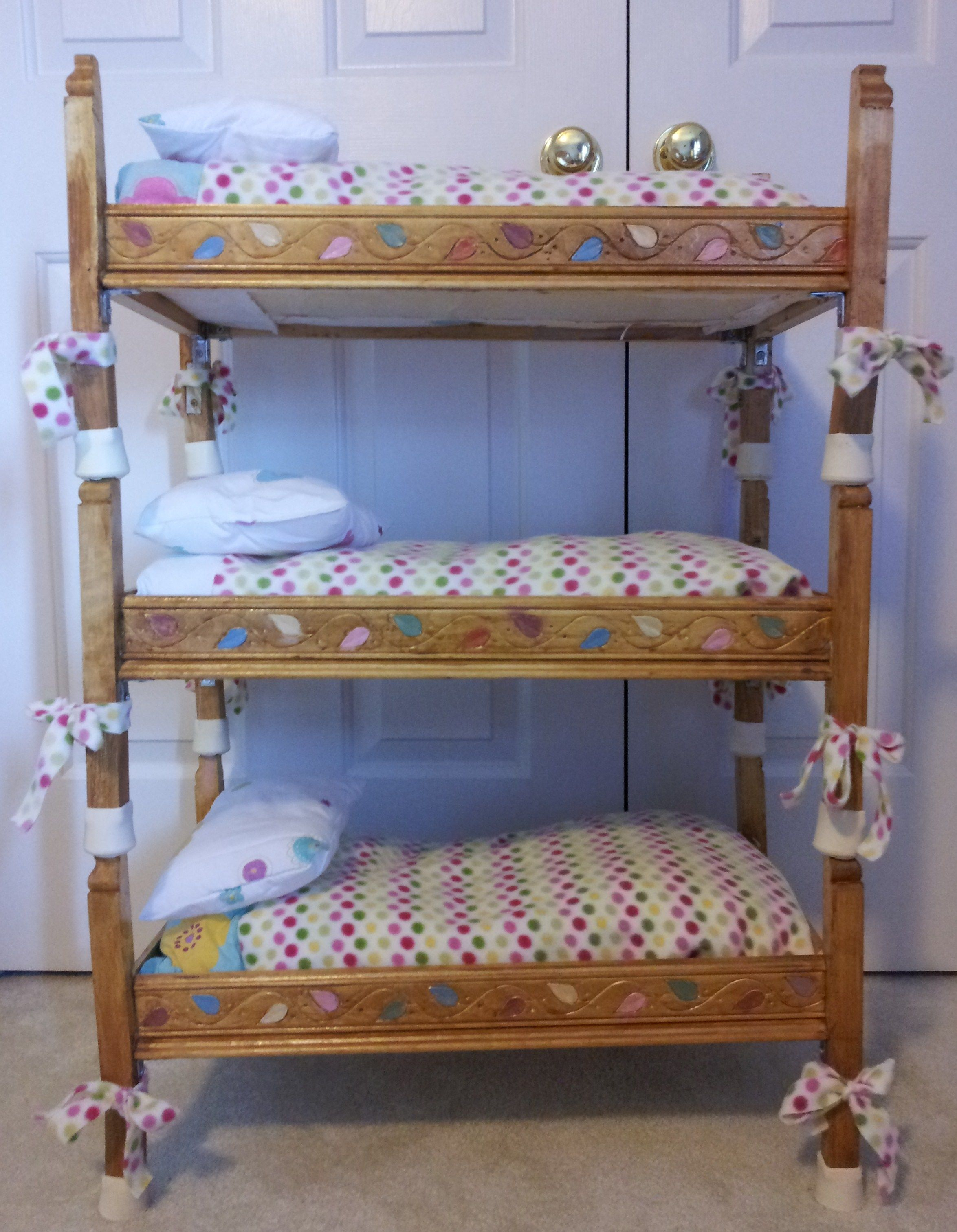Best Doll Triple Bunkbed I Built For My Daughter S American 640 x 480