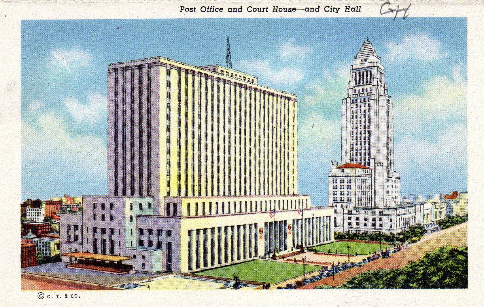 1940s la postcard hagins collection california art