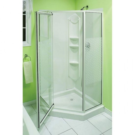 corner shower stall units. Shop Maax MAAX Shower solution Himalaya Neo Angle corner shower kit at  Lowe s Canada Find our selection of stalls enclosures the lowest price Busy Beaver web site for Eluthera