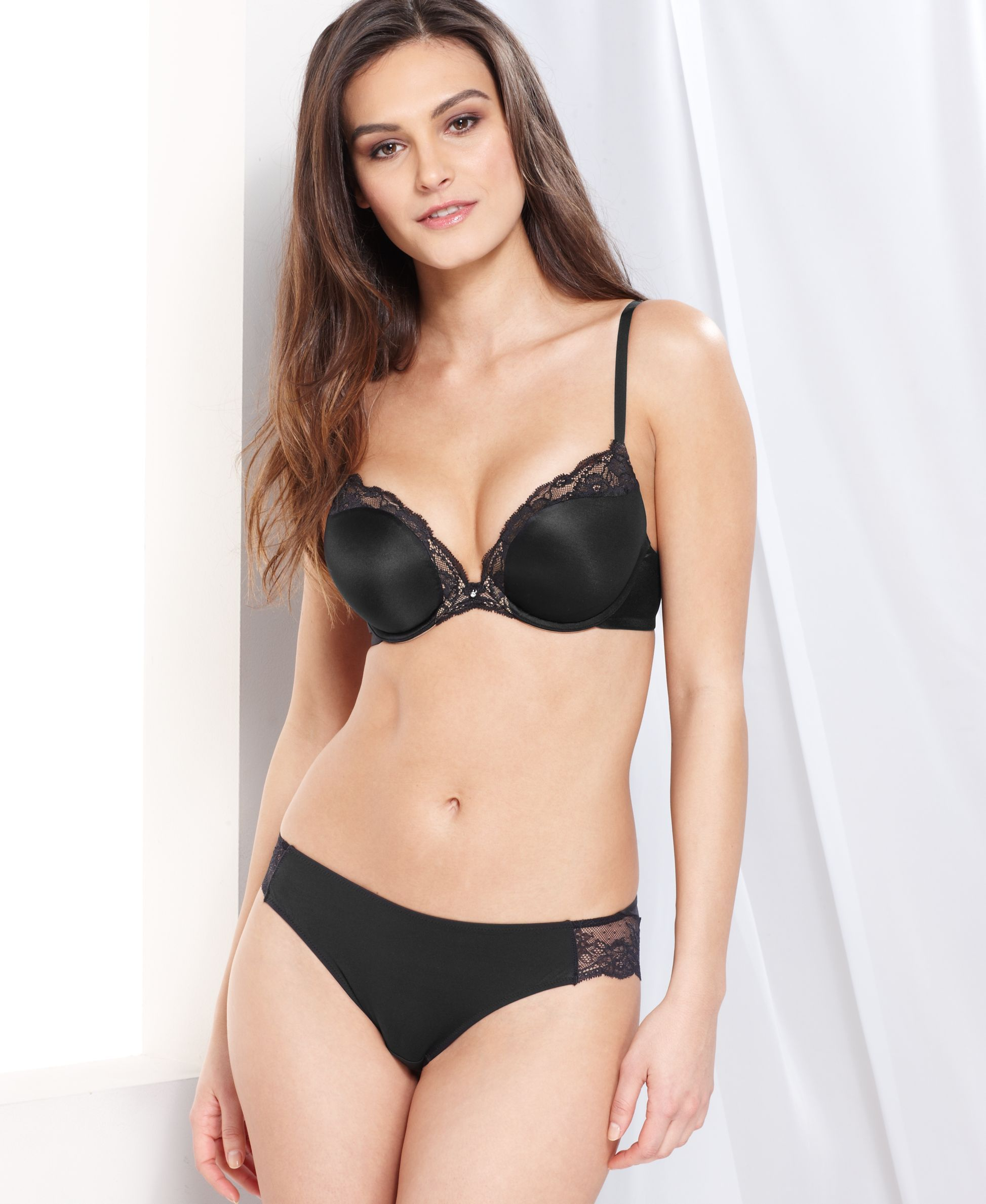 bra comfort devotion up maidenform comforter pin embellished plunge push