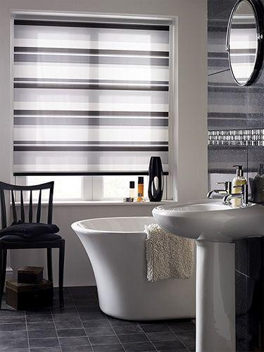 Letterbox Noir Roller Blind Bathroom Blinds Diy Blinds Waterproof Blinds