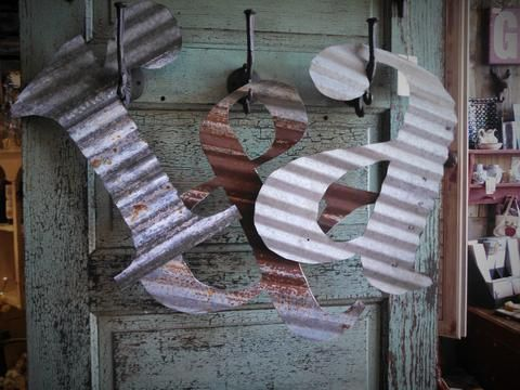 "Corrugated Steel Letters Letters"" 15"" Corrugated Metal  Metalwork  Pinterest  Corrugated"