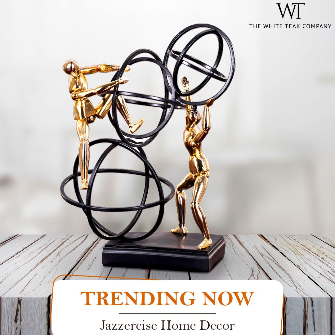 Take home our trending home decor, the 'JAZZERCISE' to spell its magic! Shop online at www.whiteteak.com or visit our stores. #WhiteTeak #HomeDecor #HomeLove #InteriorDesign #InteriorDecor. Call : 1800-1030054