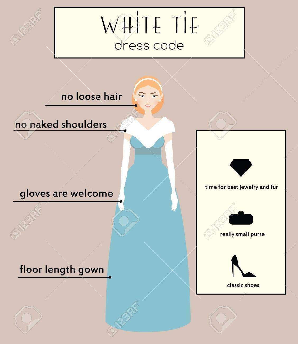 Image Result For Women Dresses Infographics Dress Codes White Tie Dress Code Dress Code For Women