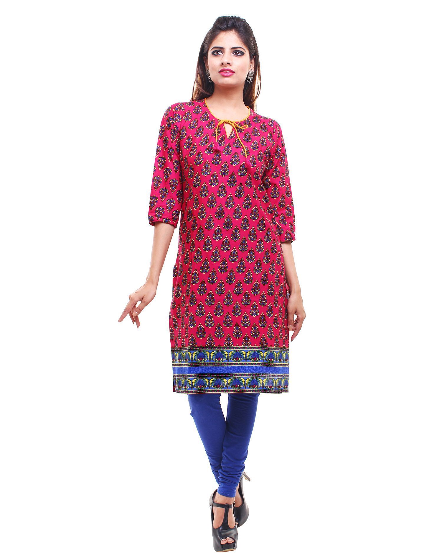 Buy Pink Gloi Pink Kurti Online For Women At Flash Sale | Styletag, India - Styletag