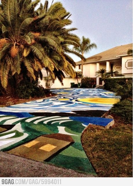 Painted Asphalt Driveway