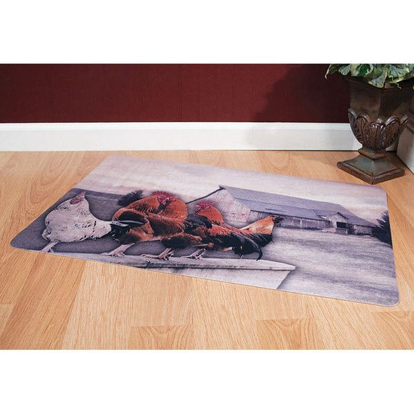 Roosterville Country Floor Mat Comfortable Woven Features Our Rooster Motif Great For In Front Of Stove Refrigerator Or Sink