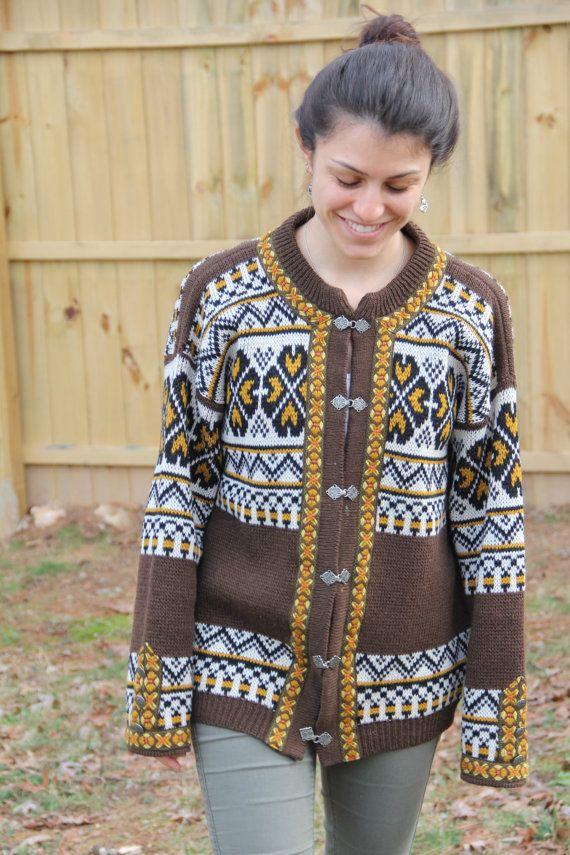 Vintage Wool Norwegian Sweater GANN Women\'s L | ropa | Pinterest ...