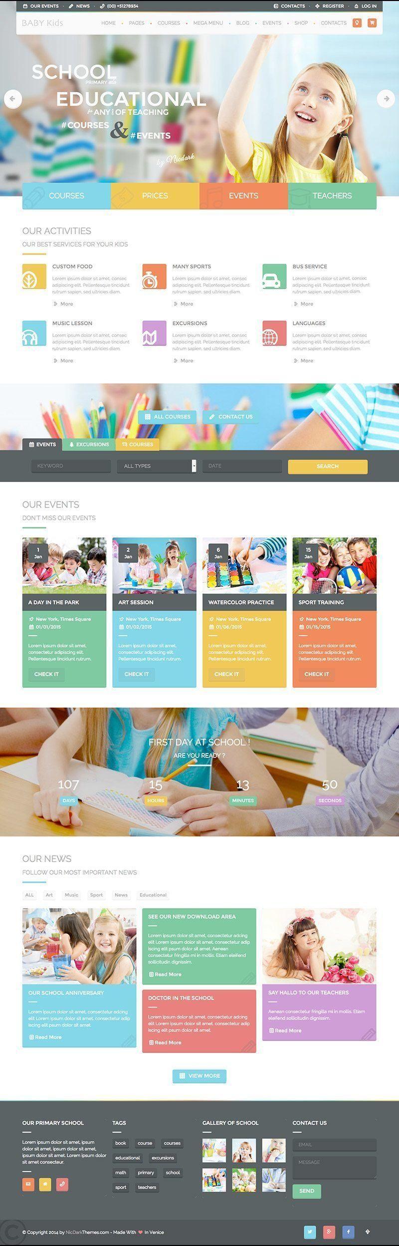 Baby Kids Education & Learning WordPress Theme - WPExplorer