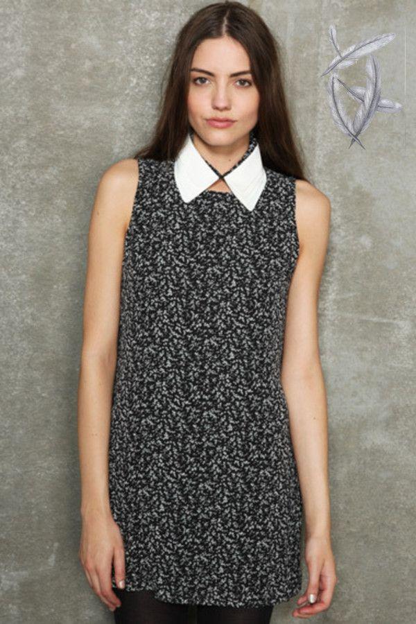 TALL Black and White Starlight Spot Smock Dress | Smock