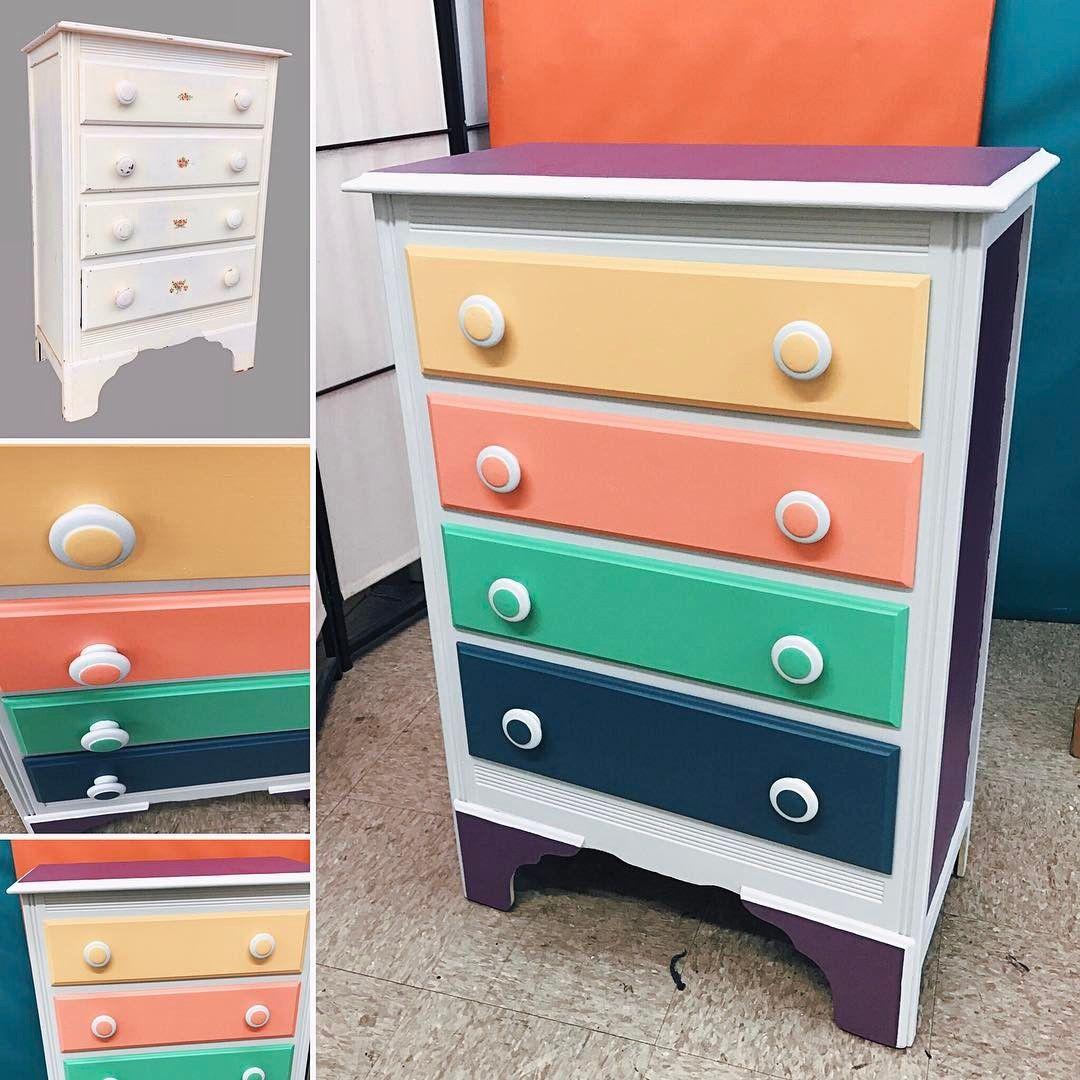 😍Adorable Childrenu0027s Dresser! Hand Painted By Uhuru Furniture! Painted  With #Zero VOC