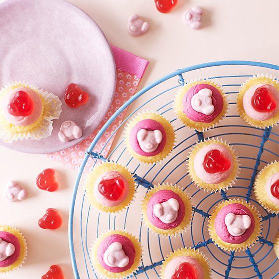 Percy Pig Raspberry Allbutter Cupcakes  Goodies - Owl percy pig birthday cake