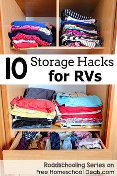 10 RV Storage Hacks Roadschooling Series