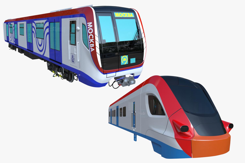 Moscow Metro And Ivolga Train 3d Model Collection Moscow Metro Moscow Train