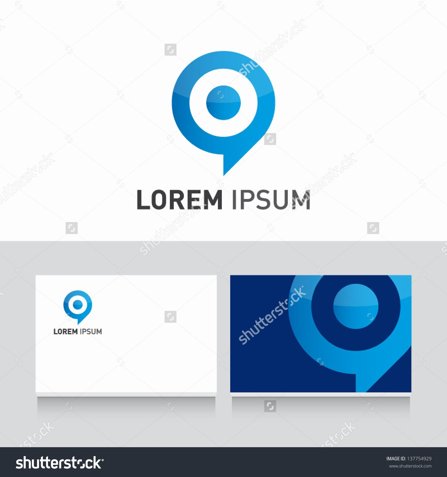 target bubble icon vector design elements with business card ...