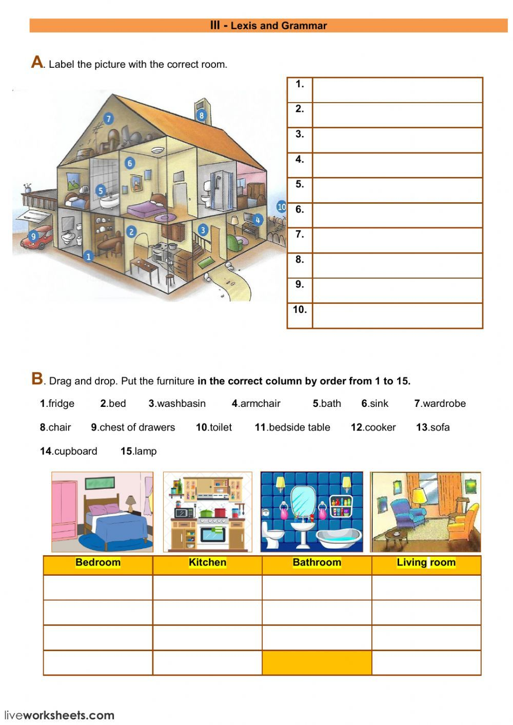 The house interactive and downloadable worksheet you can do the the house interactive and downloadable worksheet you can do the exercises online or download the ccuart Choice Image