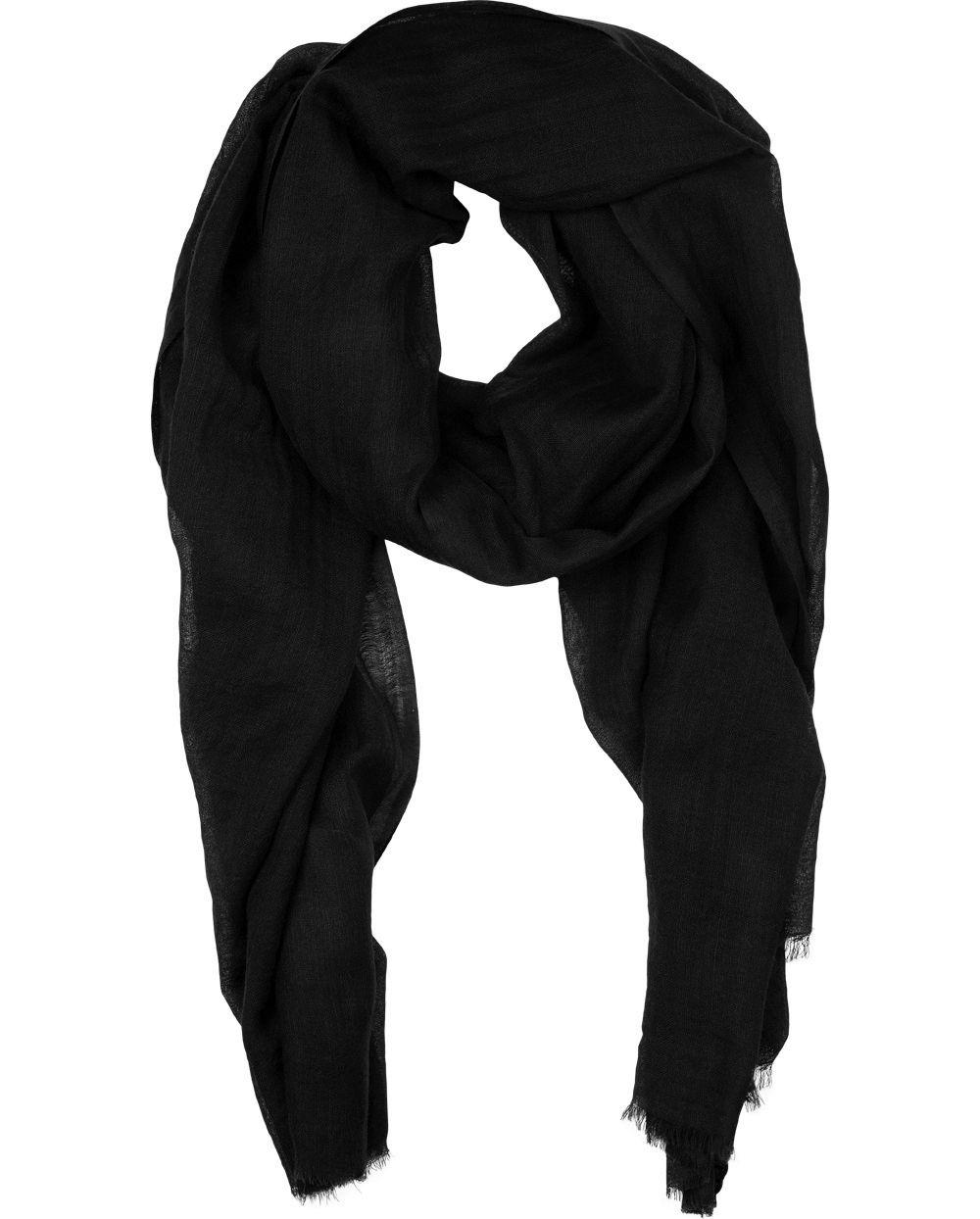 "Naledi Copenhagen ""Dark Side"" scarf - semitransparent black"