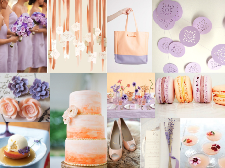 Peach And Lavendar Lavender Bridesmaid Dresses Bouquets Featured On Loverly