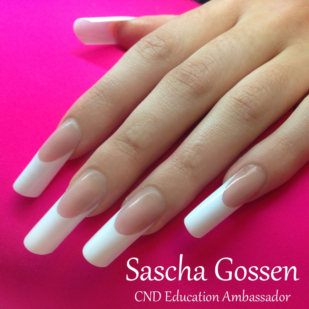 pipe / c curve / tunnel french nails - Sascha Gossen | ✌ -> Nails ...