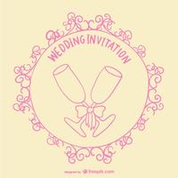 Wedding Toast Invitation Card Free Vector Invitation Cards Vector Free Invitations