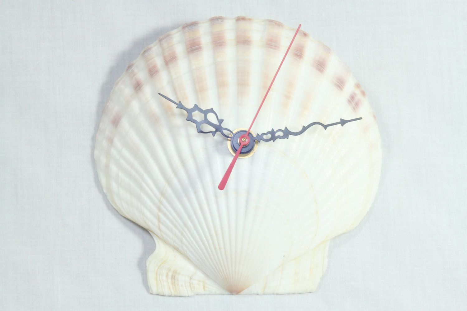 Ordinaire Vintage Bathroom Clocks | Unique Vintage Upcycled Seashell Wall Clock Home  Decor Beach Clocks .