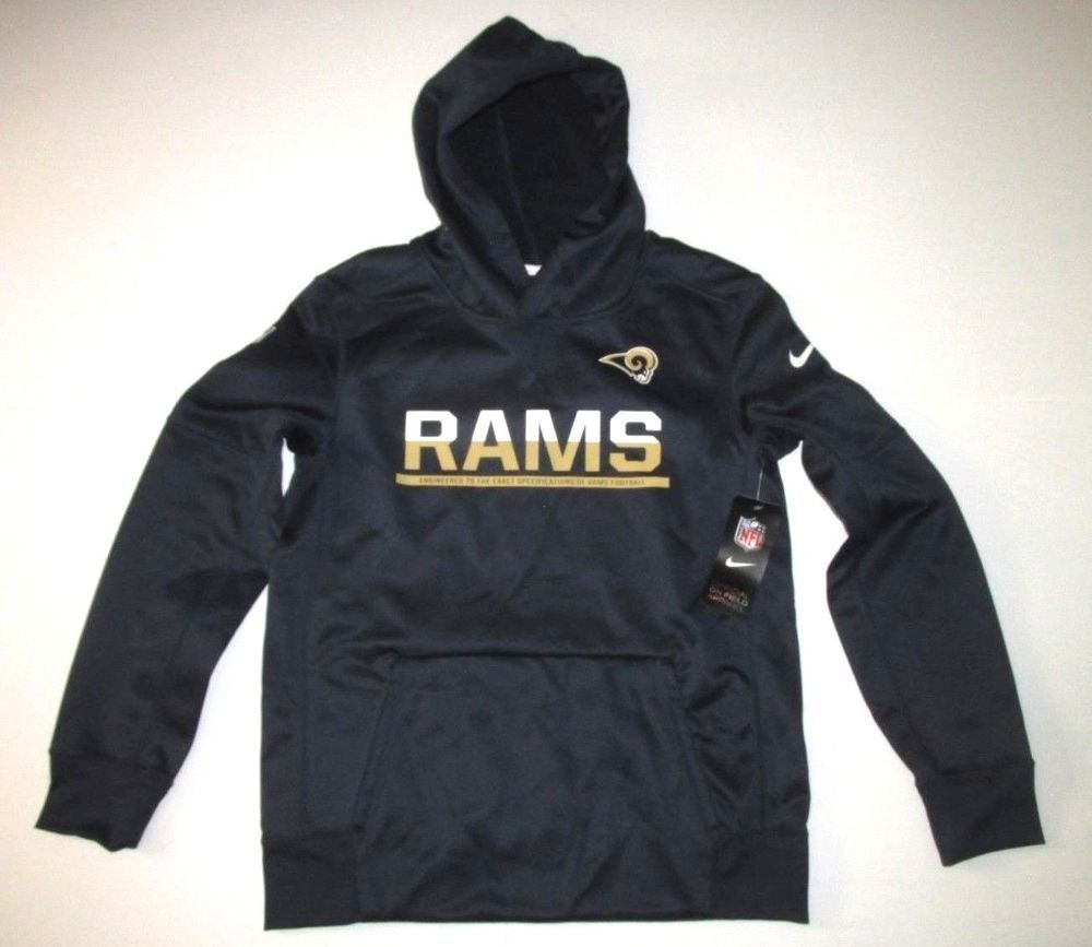 huge selection of 4859f 616b8 Nike Los Angeles Rams Hoodie Sweatshirt Kids Youth L 14/16 ...