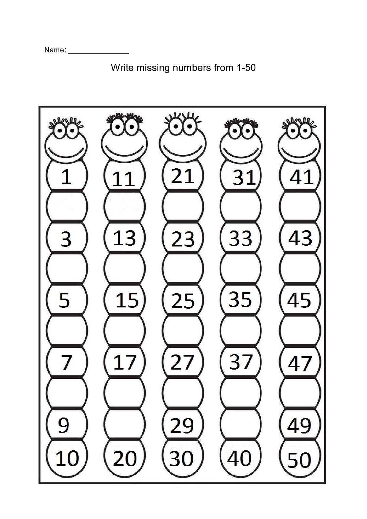Missing Numbers Missing Number Worksheets Kindergarten Worksheets Number Worksheets Write missing number worksheets