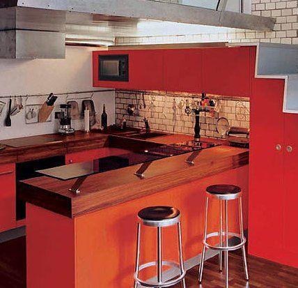 Cocinas peque as ideas para decorar cocinas peque as for Muebles para cocina americana pequena