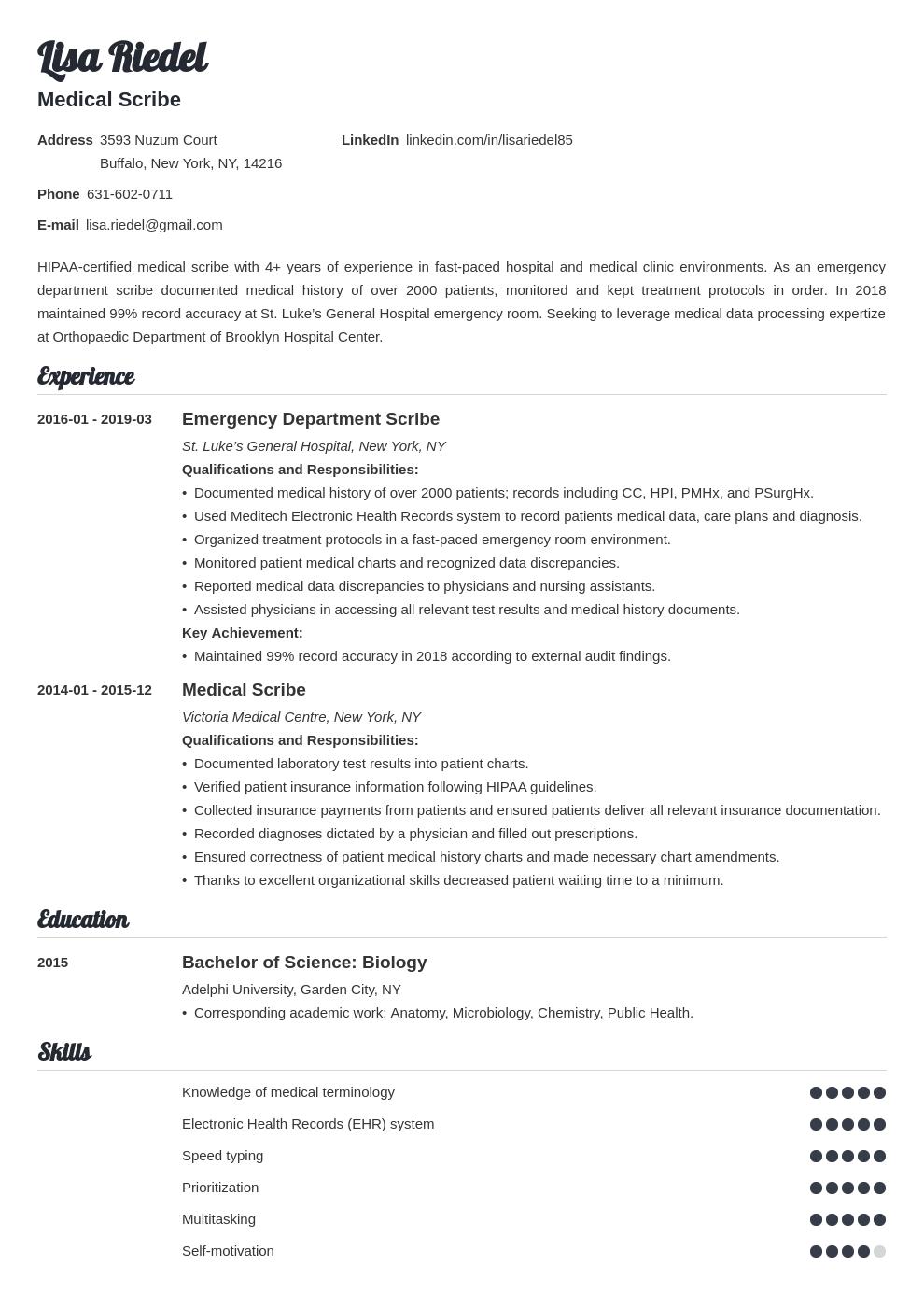 Medical Scribe Resume Example Template Valera Medical Scribe Resume Examples Job Resume Examples