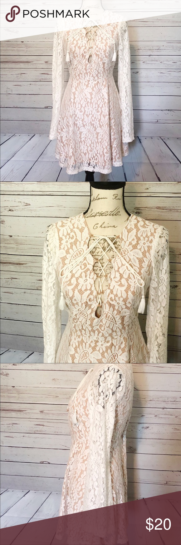 Forever 21 Lace Covered Long Sleeve Dress Lace Covered Long Sleeve Dress With Tan Lining Fits True To Siz With Images Long Sleeve Lace Dress Tan Dresses Long Sleeve Dress [ 1740 x 580 Pixel ]