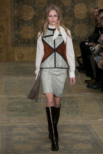 A geometric look from the Fall Tory Burch show