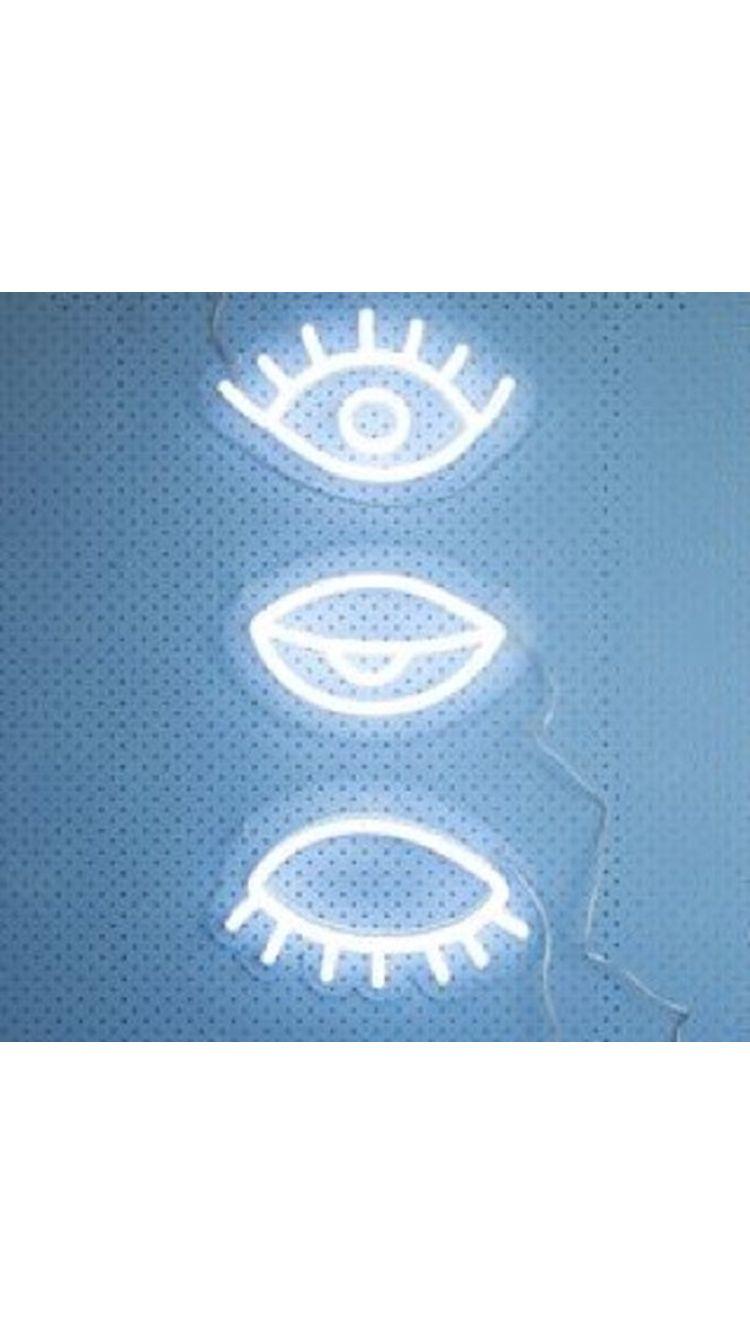 Pinterest SLroyalty Neon AestheticLight Blue