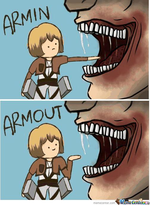Attack On Titan Armin Attack On Titan Meme Funny Anime Pics Anime Funny